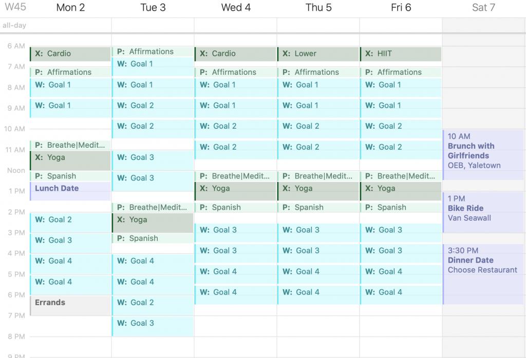 time blocking planner