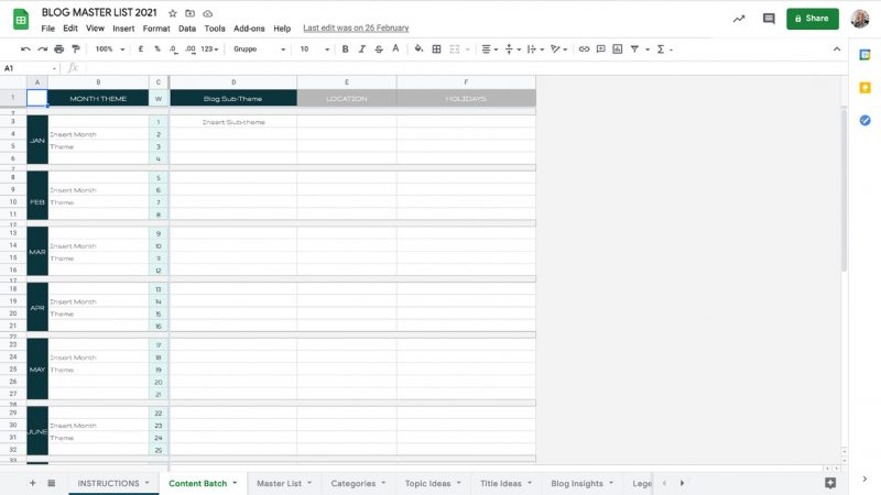 Blog Master List