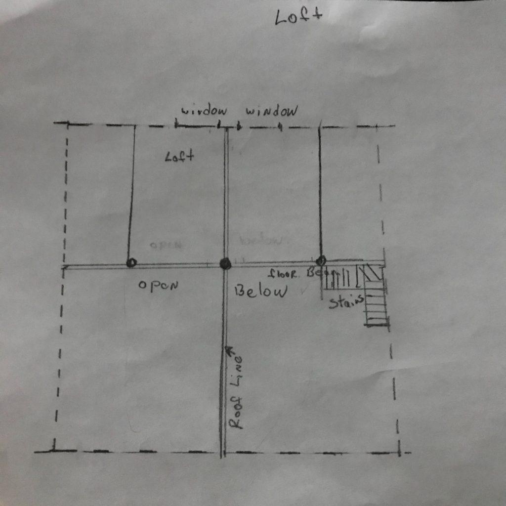 gable roof tiny house floorplan sketchup