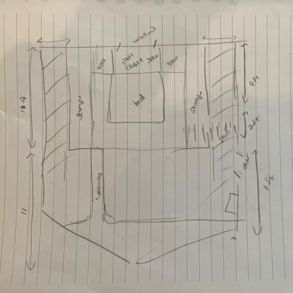 gable roof tiny house sketches