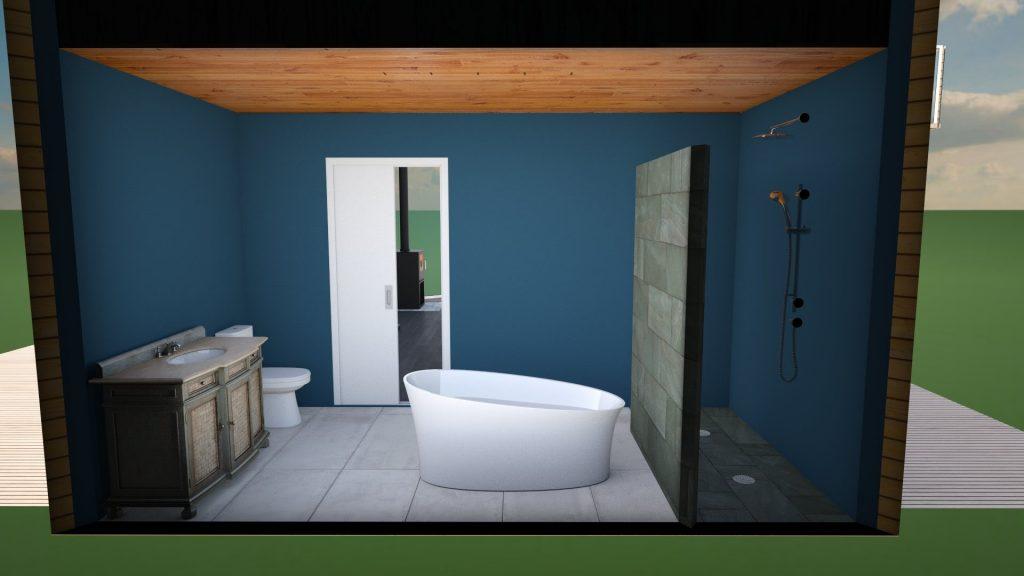 tiny house bathroom design 3D