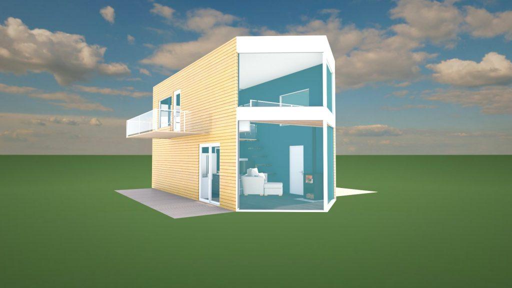 tiny house exterior design 3D