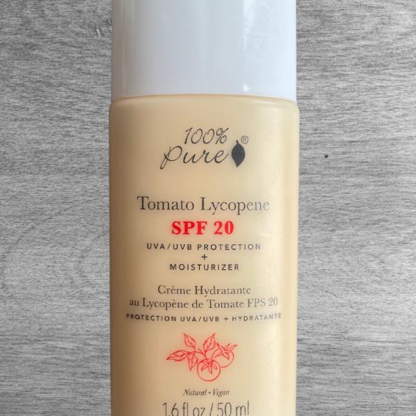 Tomato Lycopene Moisturizer SPF 20 ▫︎ 100% Pure [Vegan Natural Sunscreen]